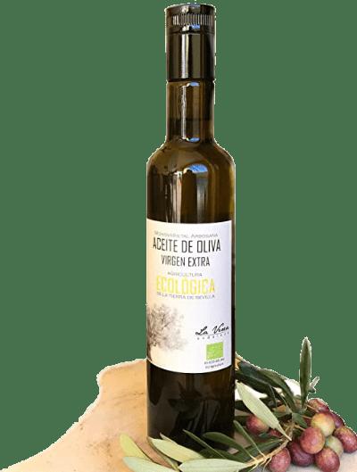 aceite oliva virgen extra botella certificado